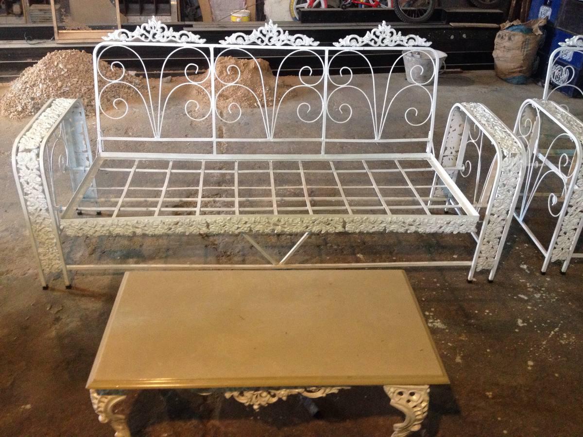 Mi casa decoracion muebles para jardin de hierro fundido for Muebles de jardin de hierro