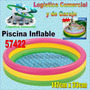 Piscina Inflable 3 Aros Colores Niños Intex 147x33 Cm 57422