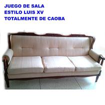 Juego De Recibo De Caoba Estilo Luis Xv