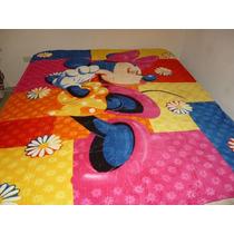 Cobija Cama Individual De Piel De Durazno De Minnie Mouse, 1