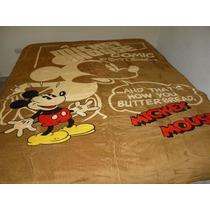 Cobija De Cama Individual D Piel De Durazno, Mickey Mouse, 1