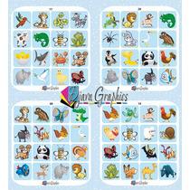 Lotería De Animalitos Para Imprimir, 300 Dpi Alta Resolución