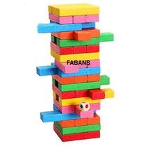 Jenga De Colores Torre Wiss Toy 48 Piezas Juego Juguete Niño