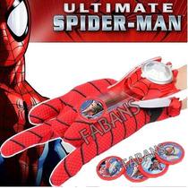 Guante Spiderman Lanzador Discos Juguetes Niño Disfraz Araña