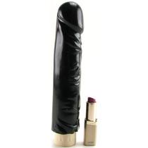 Vibrador Consolador Realístico Negro 18 Cm Multivelocidades