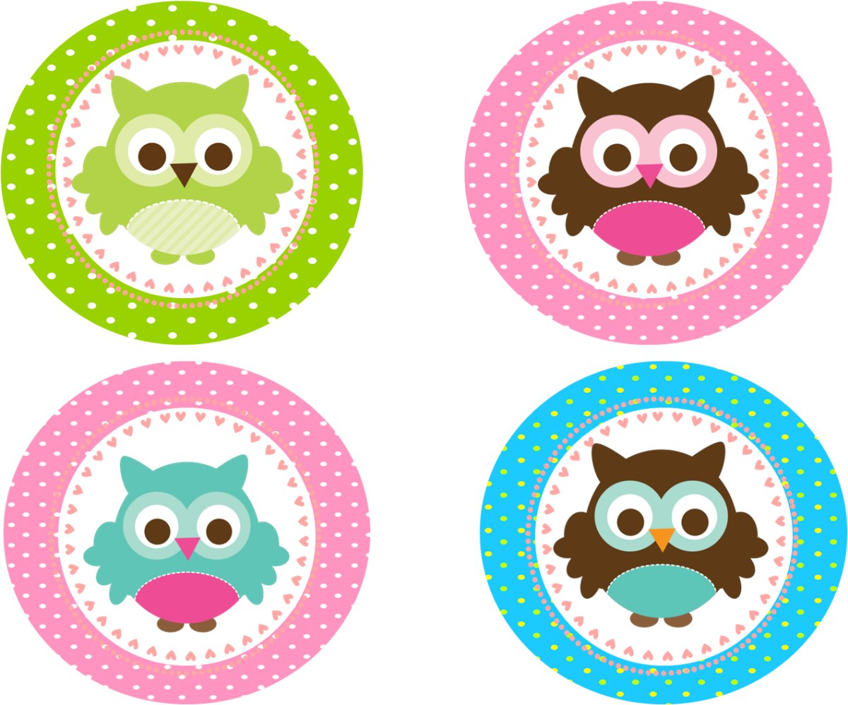 Kit Imprimible Buho  Para Fiestas, Candy Shop, Baby