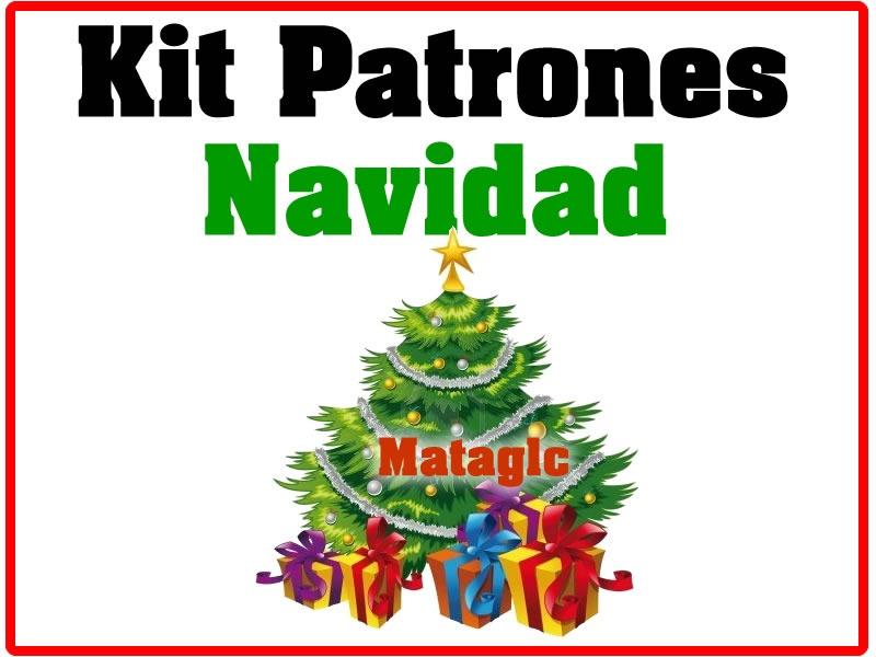 Kit Imprimible Patrones Navidad Botas Muñecos Arbol Fieltro - BsF ...