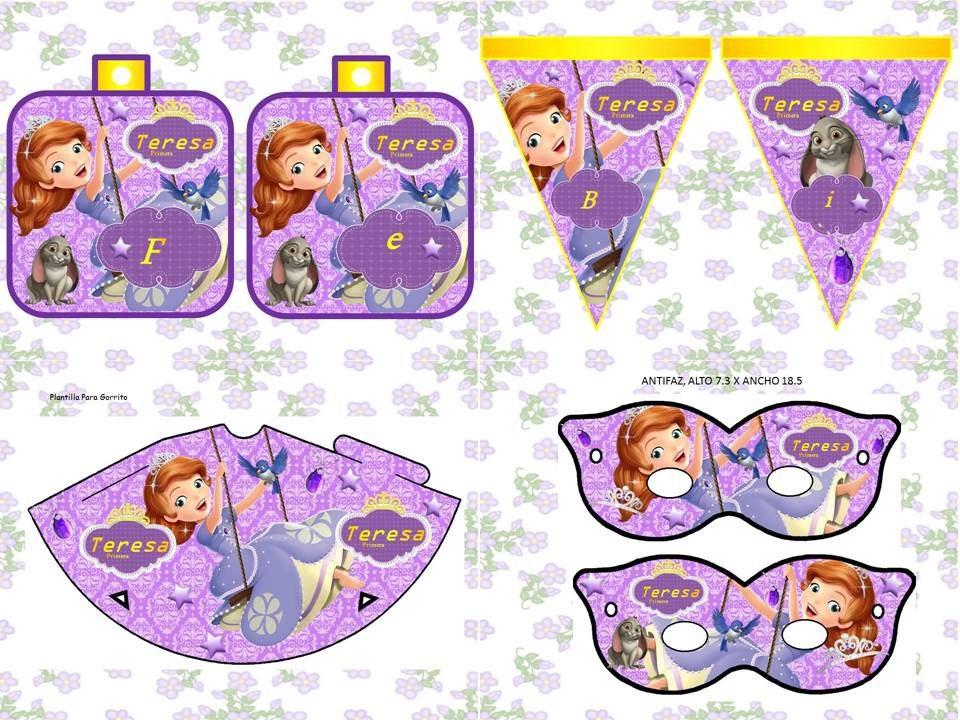 Kit Imprimible Princesa Sofia Tarjeta Decoracion Fiesta Idea - Bs. 100