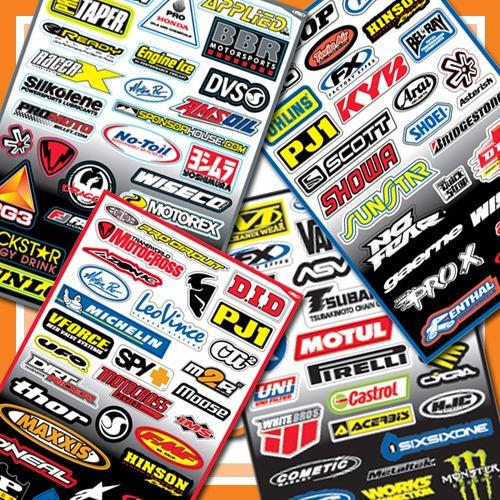 Lamina De Calcomanias Factory Effex Fx Motocross Enduro Moto - Bs ...