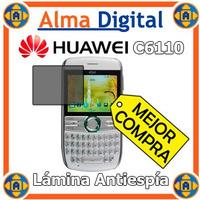 Lamina Protector Pantalla Antiespia Huawei C6110 Antichisme
