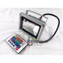 Faro Reflector 10 Watts Rgb Led Multicolor Con Control