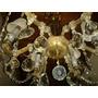 Lámpara Cristal De Bohemia Italiana Antigua
