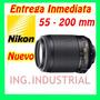 Lente Nikon Nikkor - Zoom Af-s 55-200mm F/4-5,6g If-ed Vr Dx