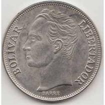 Moneda De 5 Bolivares De 1973