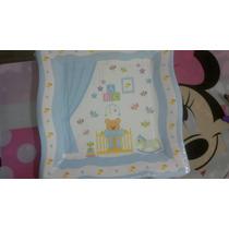 Baby Shower Platos Osito Manteleria Importada Nav13