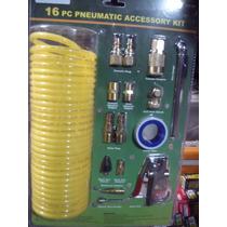 Accesorios Neumaticos Compresores Mangueras Kit De 16 Piezas