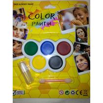 Maquillaje Facial Corporal Pinta Caritas Hora Loca Fiestas