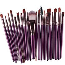 Set De 20 Pinceles Y Brochas Para Maquillaje Profesional