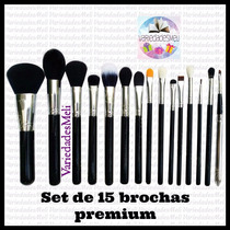 Set De 18 Brochas Premium De Maquillaje Profesional