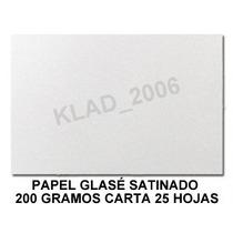 Papel Glase 200 Gramos 25 Hojas Tamaño Carta