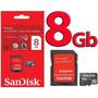 Memoria Microsd Sd Hc 8gb Sandisk Camara Celular Tablet Pc