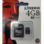 Memoria Microsd Kingston 4gb+adaptador En Blister Sellada