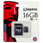 Memoria Micro Sd Kingston 16gb Class 4 Adaptador-originales