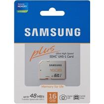 Memoria Samsung Sd 16 Gb Class 10 48mb/s Camaras Fotografica