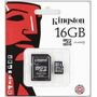 Memoria Micro Sd Kingston 16gb Con Adaptador Original