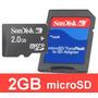 Memoria Micro Sd Sandisk 2 Gb Con Adaptador Sd