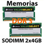 Kit Memoria Sodimm Para Laptop Ddr3 8 Gb 2 X 4gb 1333mhz