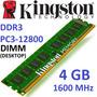 Memoria 4gb Ddr3 1600 Mhz Kingston Pc3-12800 Nuevas Blister