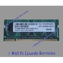 Memoria Ddr2 Para Portatil / 512mb / 400 Rohs Pc-3200