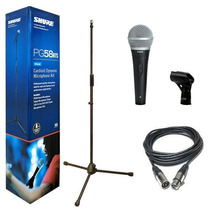 Microfono Pg58bts Shure Pg58 Vocal Combo Con Cable Y Paral