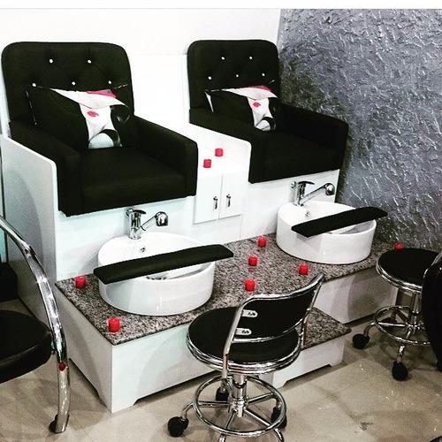 Mobiliario De Peluquerías Pedí-spa Manicure Pedicure