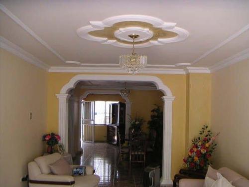 Molduras y techos en yeso y drywall mercadolibre auto - Molduras para techos interiores ...
