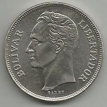 Moneda 5 Bolívares 1977 Fuerte De Níquel