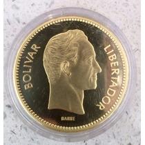 Moneda Oro En Honor Al Libertador Oro 31.1 G Ley 900