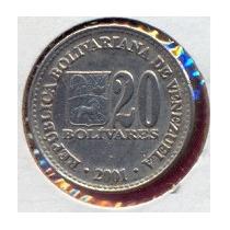 Moneda 20 Bolivares 2001.