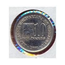 Moneda 10 Bolivares 2001