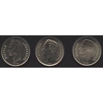Monedas Venezolanas Colección Bs. 1. 1989. Tres Variantes.