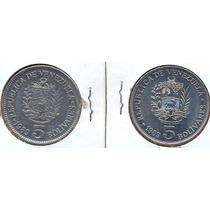 Moneda 5 Bolivares 1989 (fuerte)