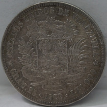 Vendo Moneda Venezolana Plata Fuerte O 5 Bolívares Año 1929