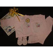 Conjunto De Algodon Para Bebes Reccien Nacidos 5 Piezas Niña