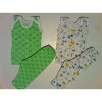 Conjuntos De Bebe, Franelilla Y Pantaloncito De Algodon Rn