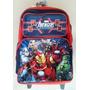 Avengers Morral Maleta C/ruedas Escolar Impo Orig