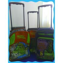 Maleta Escolar De Shrek Original Con Ruedas Nueva