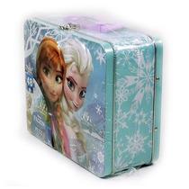 Lonchera Metalica Disney Frozen Princesas Elsa Y Anna