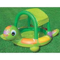 Piscina Inflable Tortuga Con Parasol Para Niños Intex 57410