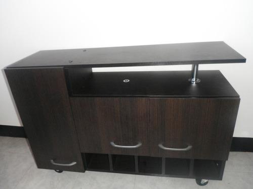 Mueble De Oficina Escritorioconvertible Con Vidrio Moderno  Bs 45